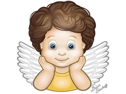 Anjos. Ilustração: Lúcia Bischoff.