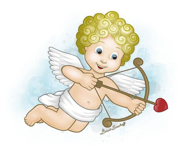 Cupido. Ilustração: Lúcia Bischoff.