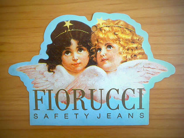 Etiqueta Antiga da marca Fiorucci.