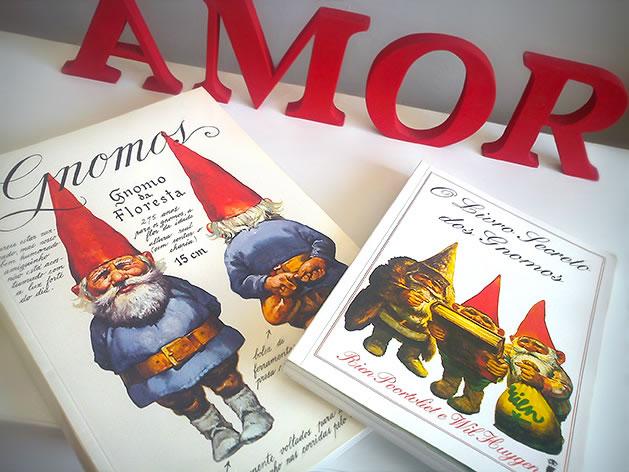 Capa dos Livros Gnomos e O Livro Secreto dos Gnomos.