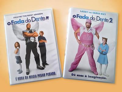 """Capas dos DVDs """"O Fada do Dente"""" 1 e 2."""
