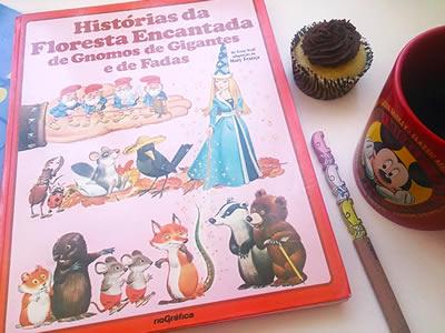 Livro Histórias da Floresta Encantada de Gnomos de Gigantes e de Fadas