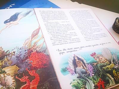 Ilustrações de Sereia do livro.