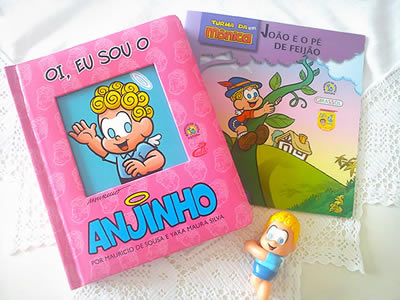 Livros do Anjinho da Turma da Mônica.