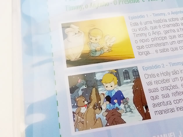 Contracapa do DVD Timmy, o Anjinho. Foto: Lúcia Bischoff.